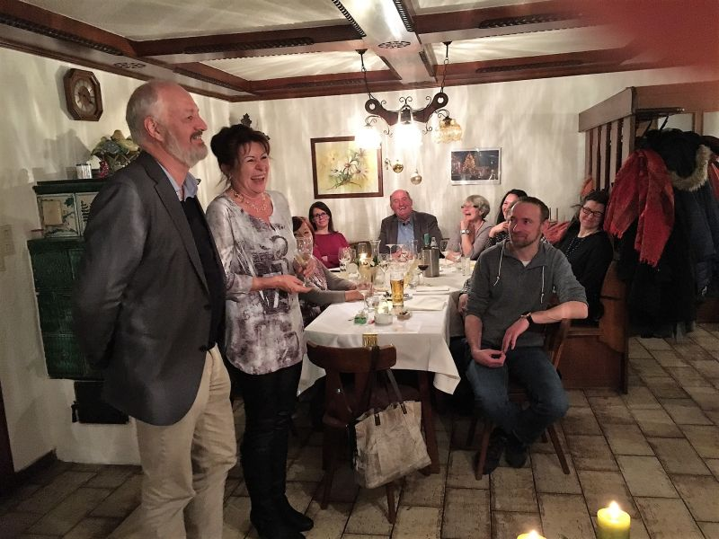 Brigitte Riedl und Dr. Franz Reiner bei der Hospizweihnachtsfeier 2016