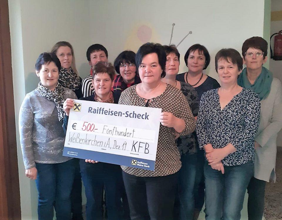 Katholische Frauenbewegung Weißenkirchen spendete
