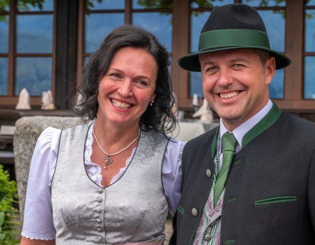 Lisa und Michi bei der Hochzeit