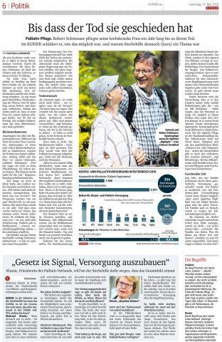 Kurier Artikel zur Sterbehilfedebatte - Frau Schönauer